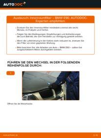 Wie der Wechsel durchführt wird: Innenraumfilter 320d 2.0 BMW E90 tauschen
