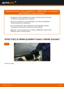 Comment effectuer un remplacement de Filtre d'Habitacle sur 320d 2.0 BMW E90