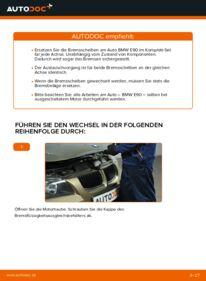 Wie der Wechsel durchführt wird: Bremsscheiben 320d 2.0 BMW E90 tauschen