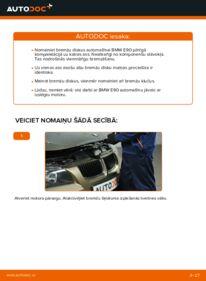 Kā veikt nomaiņu: BMW 3 SERIES Bremžu diski