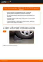 Elülső toronycsapágy-csere BMW E90 benzin gépkocsin – Útmutató