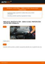 Kako zamenjati avtodel zračni filter na avtu BMW X3 E83 diesel – vodnik menjave