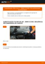 Como mudar e ajustar Filtro de Ar BMW X3: tutorial pdf
