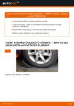 Kormányösszekötő gömbfej-csere BMW X3 E83 dízel gépkocsin – Útmutató