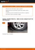Kā nomainīt: stūres pirksta BMW X3 E83 dīzelis - nomaiņas ceļvedis