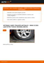 Kaip pakeisti BMW X3 E83 dyzelis vairo traukės antgalio - keitimo instrukcija