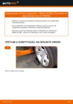 Como substituir Kit de acessórios, pastilhas de travão BMW X3 (E83) - manual online