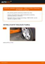 Kaip pakeisti BMW X3 E83 dyzelis pakabos statramstis: priekis - keitimo instrukcija