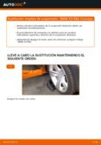 Cómo cambiar: muelles de suspensión de la parte delantera - BMW X3 E83 diésel | Guía de sustitución