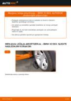 Kako zamenjati avtodel ležaj amortizerja spredaj na avtu BMW X3 E83 diesel – vodnik menjave