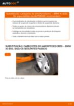 Tutorial passo a passo em PDF sobre a substituição de Maxilas de Travão no BMW X3 (E83)