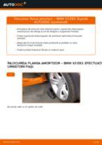 Tutorialul etapizat în format PDF pentru înlocuirea Set saboti frana la BMW X3 (E83)