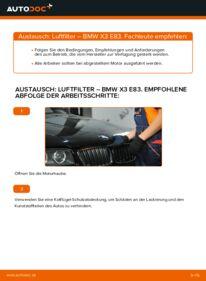 Wie der Wechsel durchführt wird: Luftfilter 2.0 d BMW X3 E83 tauschen