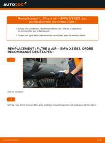 Comment effectuer un remplacement de Filtre à Air sur 2.0 d BMW X3 E83
