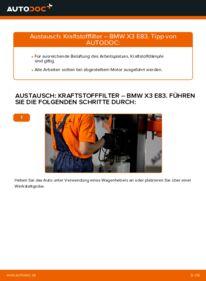 Wie der Wechsel durchführt wird: Kraftstofffilter 2.0 d BMW X3 E83 tauschen