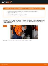 Kaip atlikti keitimą: 2.0 d BMW X3 E83 Kuro filtras
