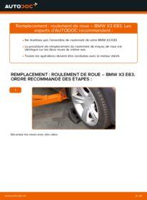 Comment effectuer un remplacement de Roulement De Roues sur 2.0 d BMW X3 E83