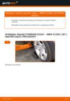 Jak wymienić i wyregulować Wahacz koła BMW X3: poradnik pdf