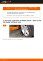 Wie BMW X3 E83 Diesel vorderer unterer Lenker wechseln - Anleitung