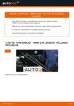 Byta torkarblad fram på BMW E39 – utbytesguide