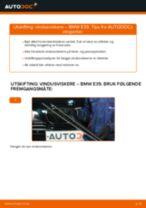 Slik bytter du vindusviskere fremme på en BMW E39 – veiledning