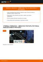 Ako vymeniť predné stierače na BMW E39 – návod na výmenu