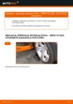 Zamenjavo Vilica BMW X3: brezplačen pdf