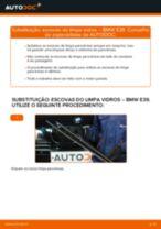 Como mudar escovas do limpa vidros da parte dianteira em BMW E39 - guia de substituição