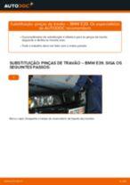 Como mudar pinças de travão da parte traseira em BMW E39 - guia de substituição
