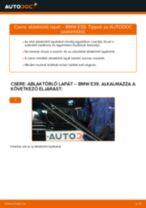 Elülső ablaktörlő lapát-csere BMW E39 gépkocsin – Útmutató