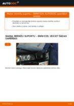 Kā nomainīt: aizmugures bremžu suportu BMW E39 - nomaiņas ceļvedis