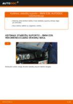 Kaip pakeisti BMW E39 stabdžių suporto: priekis - keitimo instrukcija