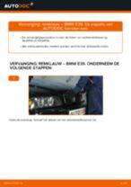 Remklauw veranderen BMW 5 SERIES: werkplaatshandboek