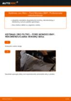 Kaip pakeisti ir sureguliuoti Rankinio Stabdžio Trosas FORD MONDEO: pdf pamokomis