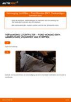 Hoe Luchtfilter vervangen en installeren FORD MONDEO: pdf tutorial