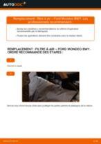 Comment changer : filtre à air sur Ford Mondeo BWY - Guide de remplacement