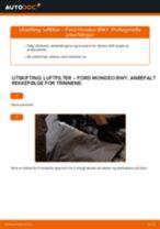 Slik bytter du luftfilter på en Ford Mondeo BWY – veiledning
