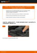 Kuinka vaihtaa jarrulevyt eteen Ford Mondeo BWY-autoon – vaihto-ohje