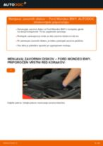 Avtomehanična priporočil za zamenjavo FORD Ford Mondeo mk3 Sedan 2.0 16V Žica Ročne Zavore