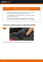 Mudar Jogo de pastilhas de travão Discos de freio FORD faça você mesmo - manual online pdf
