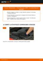 Elülső fékbetétek-csere Ford Mondeo BWY gépkocsin – Útmutató