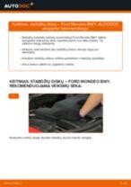 AUDI A1 Citycarver (GBH) Rėmas, stabilizatoriaus tvirtinimas pakeisti: žinynai pdf
