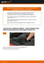 Wann Glühlampe Blinker wechseln: PDF Handbuch für FORD MONDEO III Estate (BWY)