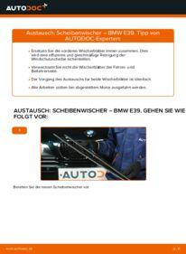 Wie der Wechsel durchführt wird: Scheibenwischer 523i 2.5 BMW E39 tauschen