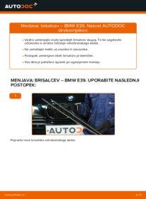 Kako izvesti menjavo: Metlica brisalnika stekel na 523i 2.5 BMW E39