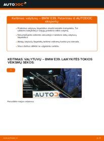 Kaip atlikti keitimą: 523i 2.5 BMW E39 Valytuvo gumelė