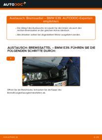 Wie der Wechsel durchführt wird: Bremssattel 523i 2.5 BMW E39 tauschen