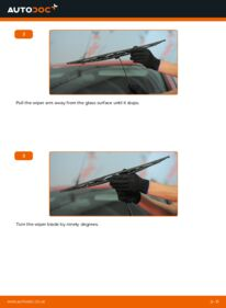 How to carry out replacement: Wiper Blades on 2.0 16V Ford Mondeo bwy