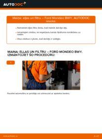 Kā veikt nomaiņu: FORD MONDEO Eļļas filtrs