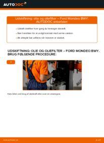 Hvordan man udfører udskiftning af: Oliefilter på 2.0 16V Ford Mondeo bwy